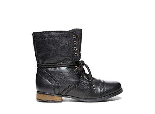 Steve Madden Children Jtroopa Black Leather Bootie Casual 3c -