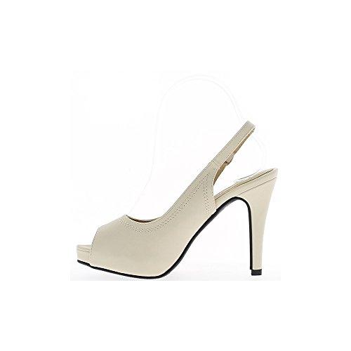 Sandalias mujer negro tacón 9cm