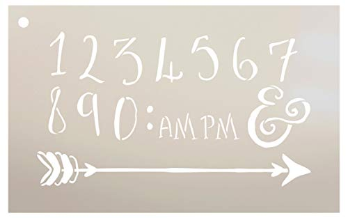Wedding Sign Numbers - Numeral & Embellishment - Fancy Funky Stencil by StudioR12 | Reusable Mylar Template | Use to Paint Wood Signs - Pallets - DIY Wedding Decor - Select Size (12