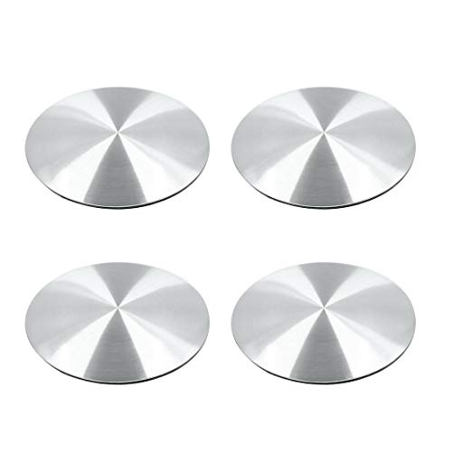 (X AUTOHAUX 56.5mm Silver Tone Auto Car Wheel Center Hub Cap Sticker Emblem Badge Decal 4pcs)