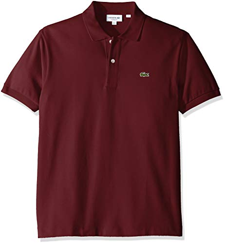 Lacoste Men's Classic Short Sleeve L.12.12 Pique Polo Shirt,Pinot Noir Red,Small