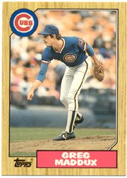 1987 Topps Traded Greg Maddux Rookie Baseball Card #70T - Shipped In Protective Display Case! ()