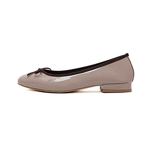 fereshte Ladies Women's Comfy Slip On Work School Dolly Pumps Ballet Flats Shoes 616Nude rKlOA8vYPi
