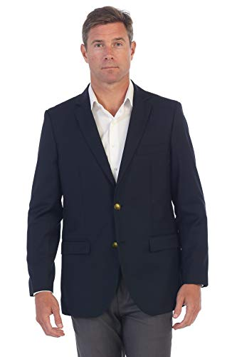 - Gioberti Mens Formal Navy Blazer Jacket, Size 44 Regular