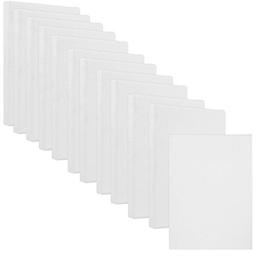 US Art Supply 4'' x 6'' Mini Professional Primed Stretched Canvas (1-Pack of 12-Mini Canvases) by US Art Supply