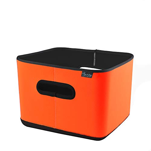 Beautyflier Anti-Slip Neoprene Sous Vide Container Insulator Sleeve 3mm Thick Collapsible Heat Prevent Cover for Rubbermaid 12 Quart (Orange) (Best Insulator Of Electricity)