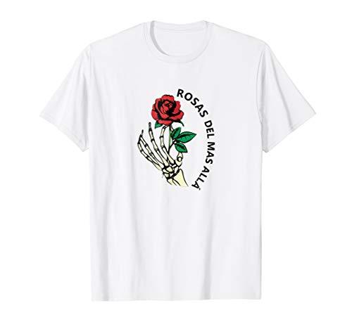 Mens Rosas del mas alla tradicional dia de los muertos t shirt