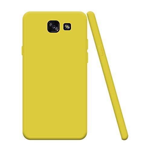 Hülle zum Samsung Galaxy A3 2016 SM-A310F, Silingsan Handyhülle Bumper Back Case Cover Silikon Case Candy Farben Hülle Ultradünnen Flexibel Weich Schutzhülle Kratzfeste Stoßfeste Tasche - Schwarz 403-SXA310-WCTPU-12-06-01