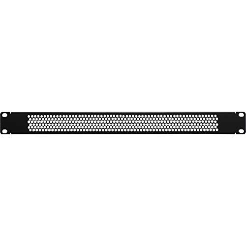 1 Space Perforated Vent Panel - NavePoint 1U Blank Rack Mount Panel Spacer with Venting for 19-Inch Server Network Rack Enclosure Or Cabinet Black