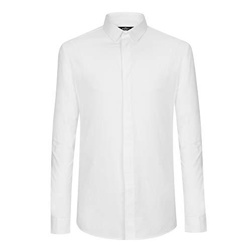 素子周辺所持Sevenbrand メンズ フォーマル シャツ 長袖 メンズ ワイシャツ 高品質 クラシック ツイル 無地 ブランド カジュアル ビジネス トップス