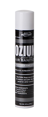 Ozium Glycol-Ized Professional Air Sanitizer / Freshener New Car Scent, 3.5 oz. aerosol (OZM-22)