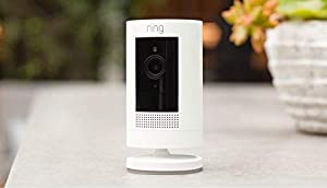 All-new Ring Stick Up Cam Battery HD security camera with two-way talk, Works with Alexa (Color: White, Tamaño: 1 Cam)