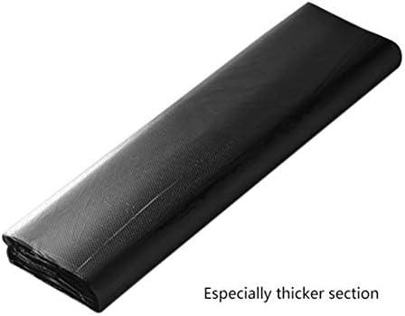 Messagee50個の特別な厚いセクションゴミ袋処分ゴミ袋ハンドル付きポータブルブラックゴミ袋