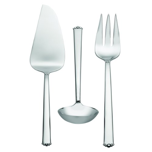 (Waterford Lismore Bead 18/10 Stainless Steel 3-Piece Serving Set)