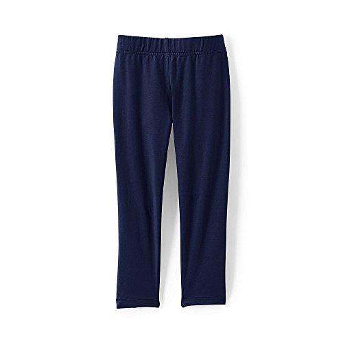 Lands' End School Uniform Girls Plus Knit Capri Leggings, M, Midnight Navy - Lands End School Uniforms