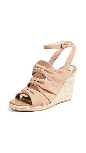 Sam Edelman Women's Awan Wedge Sandal, Golden Caramel Suede, 9.5 M US