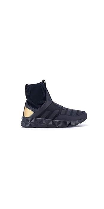 Emporio Armani - Zapatillas de Cuero para Hombre Negro Negro, Color Negro, Talla 43 1/3 / UK 9: Amazon.es: Zapatos y complementos