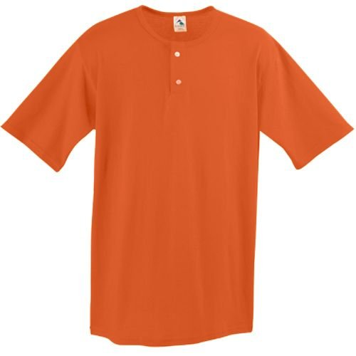 Two-Button Poly/Cotton 50/50 Placket Baseball Jersey Shirt/Undershirt