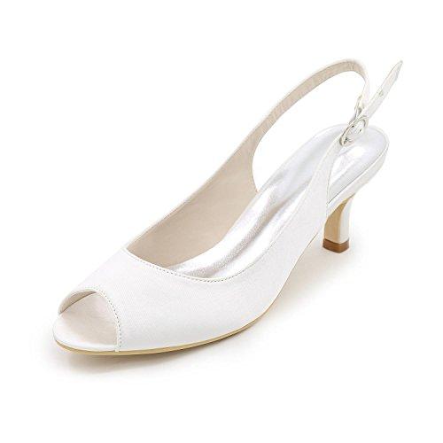 white plus aiguille talons et couleurs L de sandales fronde en occasion YC dos satin talon pompes mariée et qw6Tq1U