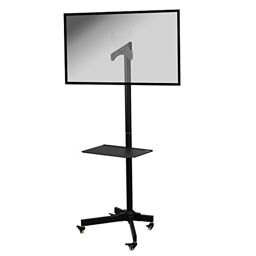 NavePoint Flat Panel TV Cart Height Adjustable 19'' to 37'' Mobile Stand w/Wheels by NavePoint