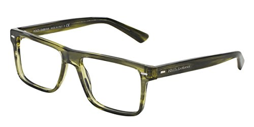 - Eyeglasses Dolce e Gabbana DG 3227 2926 STRIPED OLIVE GREEN