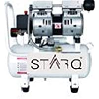 STARQ (ISO Certified) Mini Portable 24 L 0.55KW/0.75HP, Oil-free Silent Air Compressor -Copper Winding and W/Solenoid Valve -Suitable for Painting, Pneumatic Applications, Dental Use