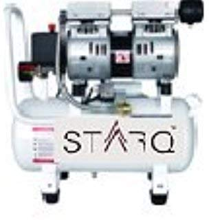 STARQ ISO Certified 0 55KW/0 75HP Copper Winding and W/Solenoid Valve  Oil-free 24-Litres Silent Air Mini Compressor