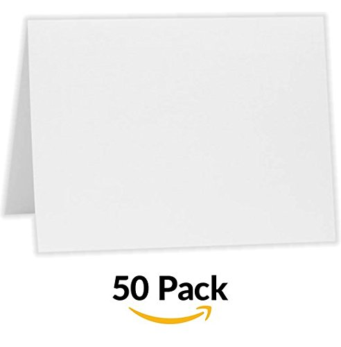 A6 Folded Notecards (4 5/8 x 6 1/4) - Savoy - Bright White (50 Qty.)