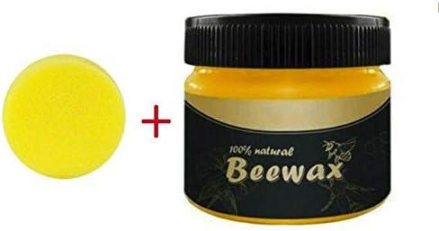 Alacritua Holzgewürz Bienenwachs Mehrzweck Bienenwachs Möbelpolitur Holzwachs Wischtücher Reiniger Ungiftiges Möbelpflegewachs für Schönheit und Schutz Well-Suited Honest