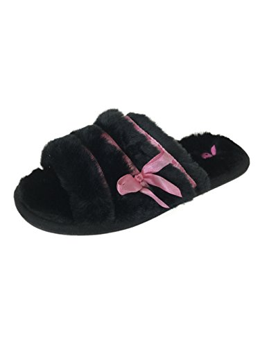 Playboy Crush Women Fluffy Sandals Black 36/37