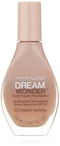 (Maybelline New York Dream Wonder Fluid-Touch Foundation, Creamy Natural, 0.67 Fluid Ounce)