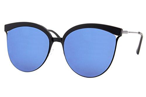 Cheapass Style Dames Noires Larges reflétées Yeux 002 Dorés UV Femmes Ca 400 Lunettes Soleil De de Chat rtzrT0qU