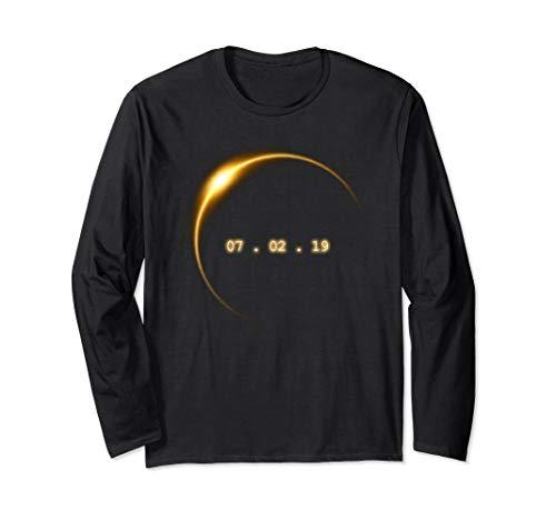 ( Total Solar Eclipse Summer July 2nd 2019 Long Sleeve T-Shirt)
