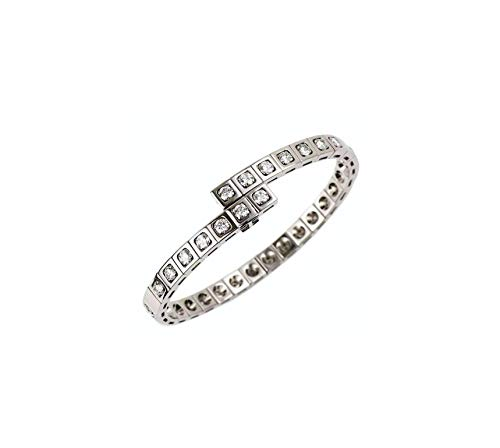 Chayanika Art 0.25 Carat Excellent Diamond 18 K White Gold Finish Tennis Bracelets Over Silver .925