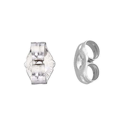 Jewelry Finding - 14K White Gold Small Earring Backs by In Gifts