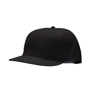 6897be88eeb13 Amazon.com  Patagonia Flat Top Hat Mens Black Patagonia Logo  Sports    Outdoors