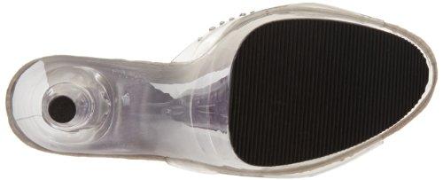 Pleaser Donne Adore-701 Sandalo Trasparente / Trasparente