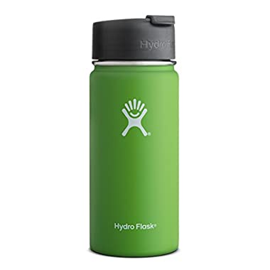 Hydro Flask 16 oz Vacuum Insulated Stainless Steel Water Bottle, Wide Mouth w/Hydro Flip Cap, Kiwi