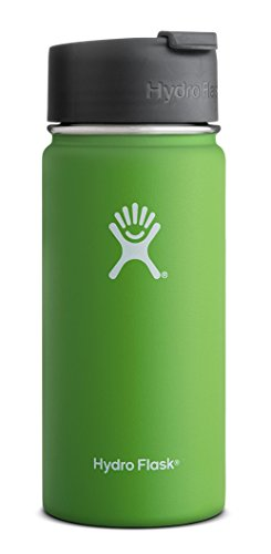 Beverage Flask (Hydro Flask 12 oz Vacuum Insulated Stainless Steel Water Bottle, Wide Mouth w/Hydro Flip Cap,)