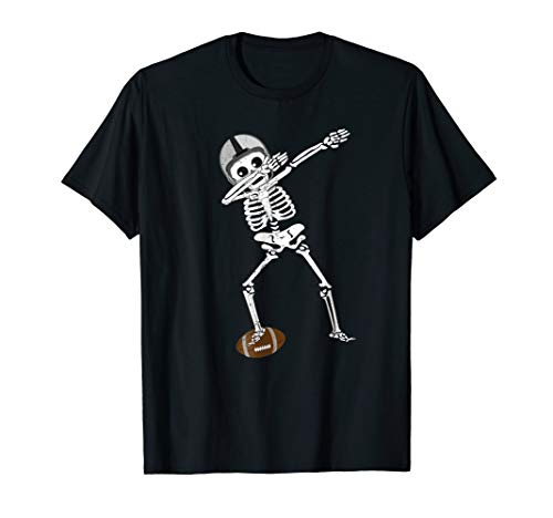 Halloween Dabbing Skeleton Football Shirt Dabbing Soccer Tee
