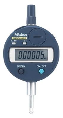 "Mitutoyo 543-792 Absolute LCD Digimatic Indicator ID-S, #4-48 UNF Thread, 0.375"" Stem Dia., Lug Back, 0-0.5""/0-12.7mm Range, 0.00005""/0.001mm Graduation, +/-0.00012"" Accuracy"