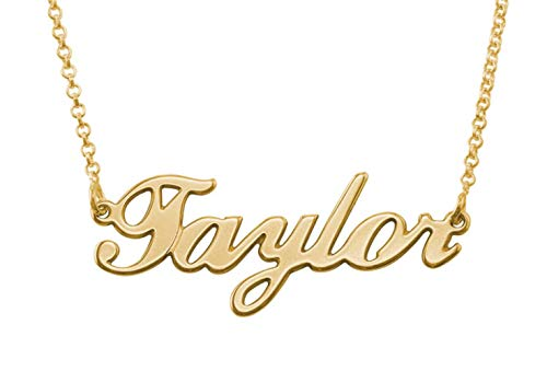 Customized Name Necklace in 18K Gold Plated Sterling Silver - Personalized Gift for Girls
