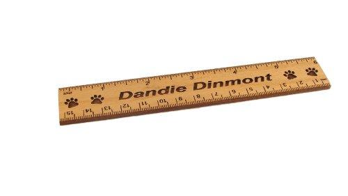 - Dandie Dinmont 6 Inch Alder Wood Ruler