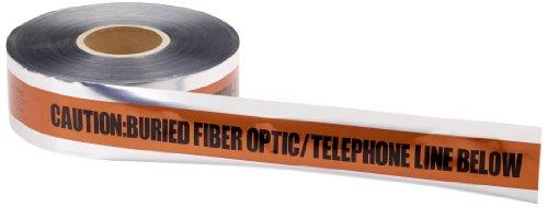 - Mutual 17774 Polyethylene Underground Tele/Fiberoptic Detectable Marking Tape, 1000' Length x 3
