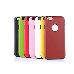 QHY PU Leather Double Color Ma Wen Perforated Mad for iPhone 6 (Assorted Colors) , White