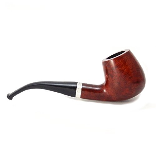Mr. Brog Full Bent Tobacco Pipe - Model No: 82 Consul Mahogany - Mediterranean Briar Wood - Hand Made