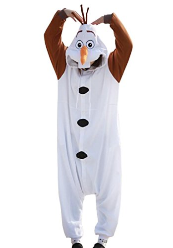 Disney Frozen Olaf Character -Adult Costumes Pajama Onesies ( Large)]()