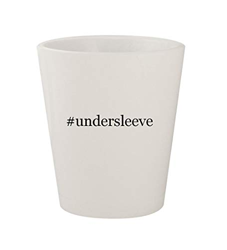 - #undersleeve - Ceramic White Hashtag 1.5oz Shot Glass