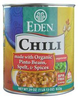 Eden Foods Chili Vegetarian Pinto Beans Spelt & Spices -- 29 oz