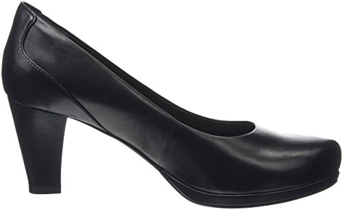Clarks Chorus Chic, Zapatos de Tacón Mujer Negro (Black Leather)